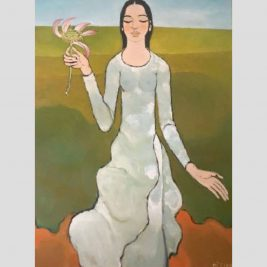 Lot 17: Nguyễn Trung   Thiếu nữ và hoa sen