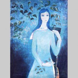 Lot 16 Đinh Cường (1939-2016) | Thiếu nữ thiên thanh