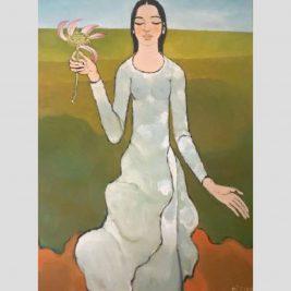 Lot 17: Nguyễn Trung | Thiếu nữ và hoa sen