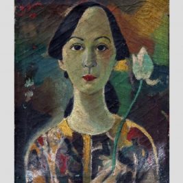 LE VAN XUONG (1917-1988) – A teacher with white lotus pud