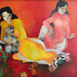 Lot 18 Đỗ Xuân Doãn (1937-2015) | Ladies and the cat