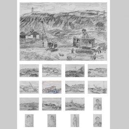 Lot 23 Nguyễn Tiến Chung (1914-1976) | Bộ ký hoạ mỏ than Quảng Ninh gồm 17 bức
