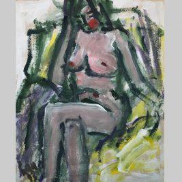 Lot 14 Trần Lưu Hậu (B.1928) | Seated nude